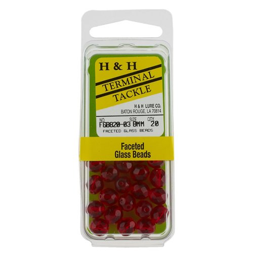 H&H Lure Faceted Round Beads 20-Pack