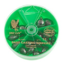 Non-Lead Bass Casting Sinkers 24-Pack