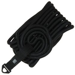 Marine Raider 1/2 in x 25 ft Black Double-Braided Dock Line