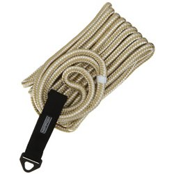 Marine Raider 1/2 in x 25 ft White/Gold Double-Braided Dock Line
