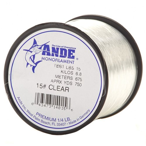ANDE® Premium 15 lb. - 750 yards Monofilament Fishing Line