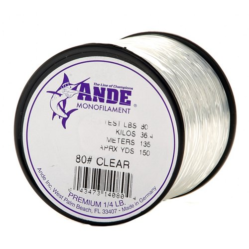 ANDE® Premium 80 lb. - 150 yards Monofilament Fishing Line