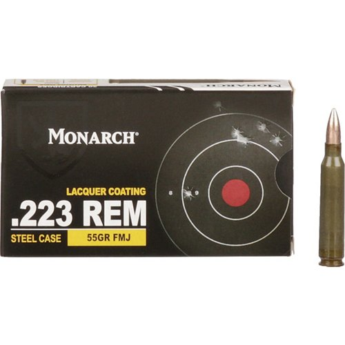 Monarch FMJ .223 Remington 55-Grain Ammunition