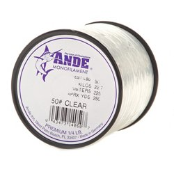 ANDE® Premium 50 lb. - 250 yards Monofilament Fishing Line