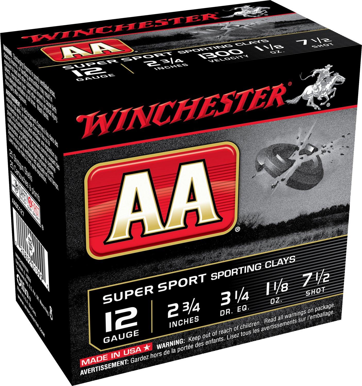 Winchester AA Super Sport Target Load 12 Gauge 7.5 Shot Shotshells