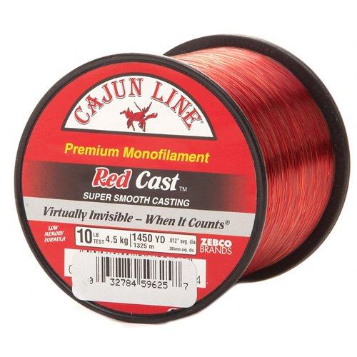 Cajun Line Red Cast 10 lb. - 1,450 yards Monofilament Fishing Line