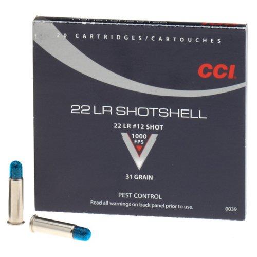 CCI® .22 LR 31-Grain Rimfire Handgun Shotshells
