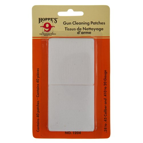Hoppe's .38 - .45 and .410 Caliber - 20 Gauge Patches 40-Pack