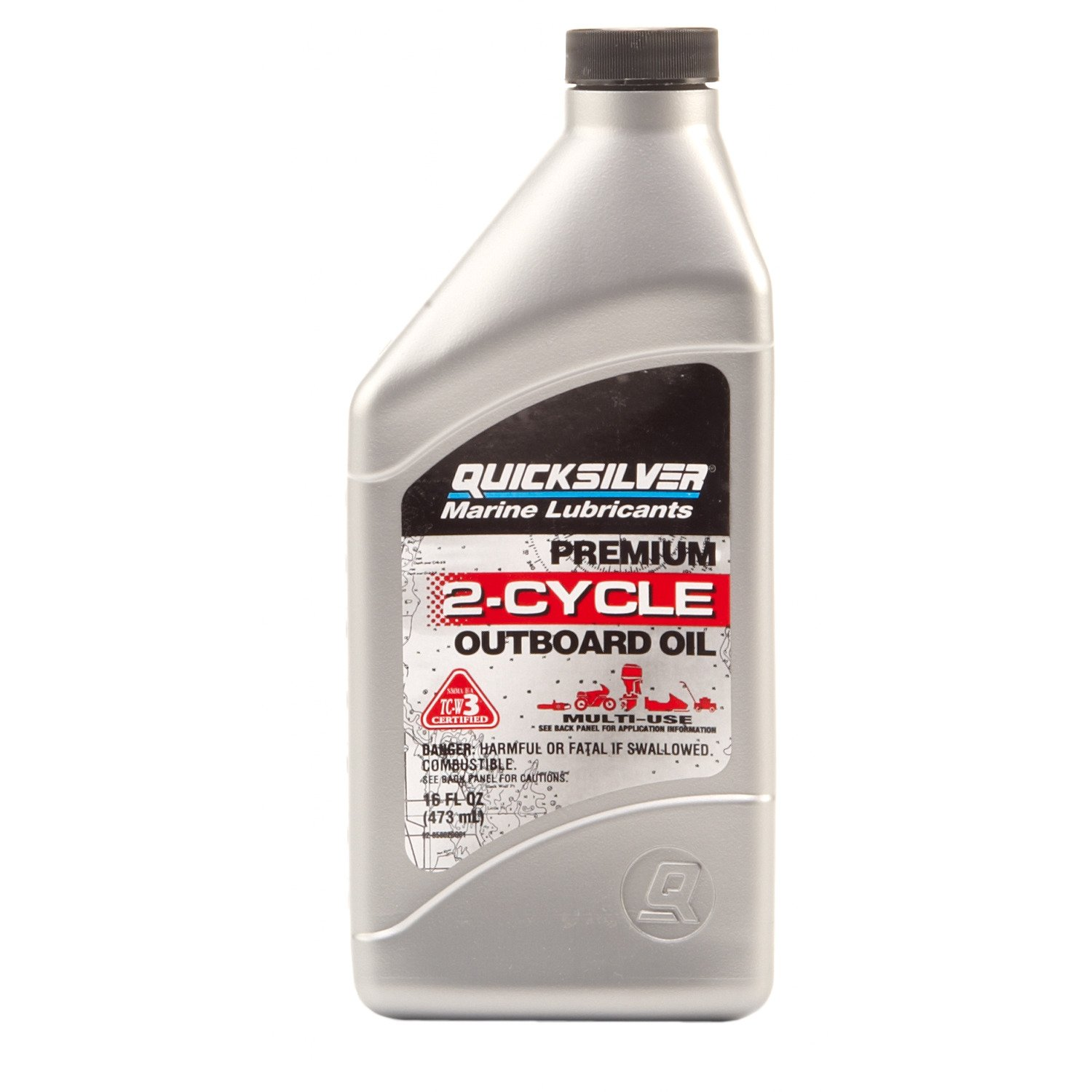 Mercury Marine 16 oz  Premium 2-Cycle TC-W3 Outboard Oil