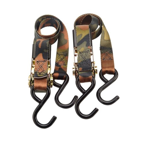 Highland 1' Camo Ratchet Tie-Downs 2-Pack
