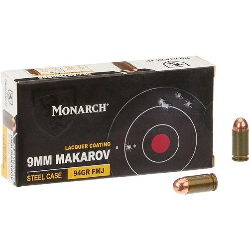 Monarch® FMJ 9 x 18 mm Makarov 94-Grain Pistol Ammunition
