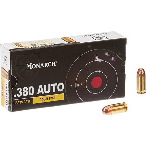 Monarch® FMJ .380 Automatic 94-Grain Pistol Ammunition