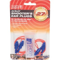 Howard Leight Airsoft® Multiple-Use Earplugs 2-Pack