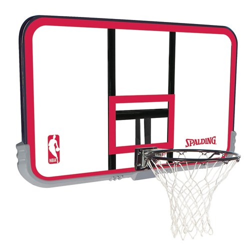 Spalding 50 In Wall Mounted Polycarbonate Basketball Hoop Academy