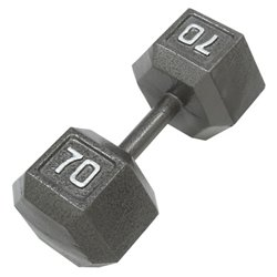 70 lb. Solid Hex Dumbbell