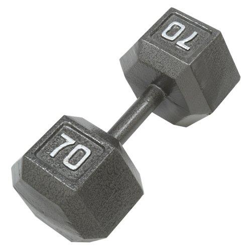 CAP Barbell 70 lb. Solid Hex Dumbbell