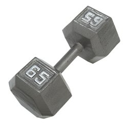 65 lb. Solid Hex Dumbbell