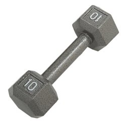 CAP Barbell 10 lb. Solid Hex Dumbbell