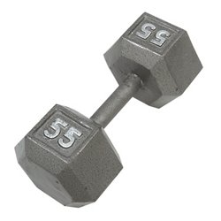 55 lb. Solid Hex Dumbbell