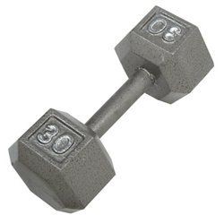 30 lb. Solid Hex Dumbbell