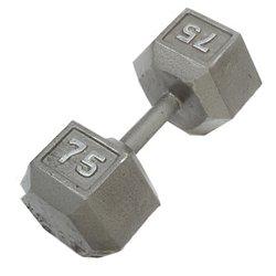 CAP Barbell 75 lb. Solid Hex Dumbbells