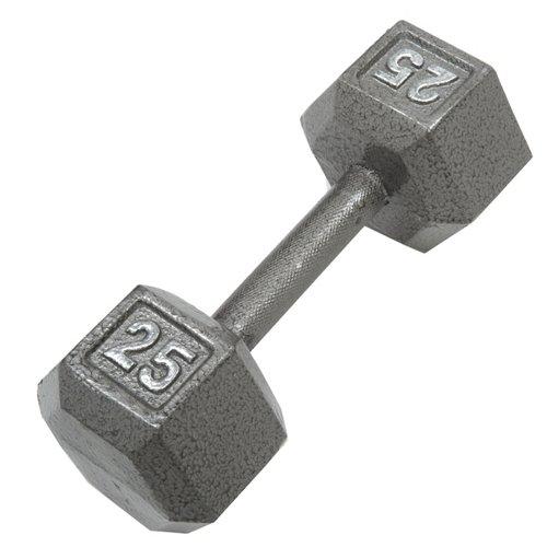 CAP Barbell 25 lb. Solid Hex Dumbbells