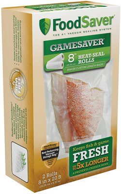 "FoodSaver GameSaver® 8"" x 20' Vacuum Packaging Bag Rolls 2-Pack"
