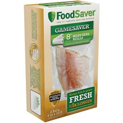 "GameSaver® 8"" x 20' Vacuum Packaging Bag Rolls 2-Pack"