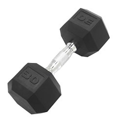 30 lb. Coated Hex Dumbbell