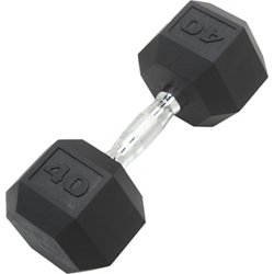 40 lb. Coated Hex Dumbbell