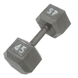 CAP Barbell 45 lb. Solid Hex Dumbbells
