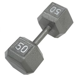50 lb. Solid Hex Dumbbell