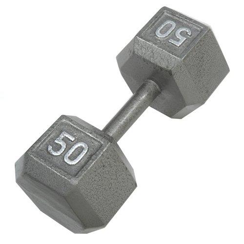 CAP Barbell 50 lb. Solid Hex Dumbbell