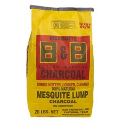 B&B Charcoal Co. 20 lb. B&B Mesquite Lump Charcoal