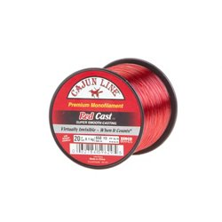 Cajun Line Red Cast 20 lb. - 650 yards Monofilament Fishing Line