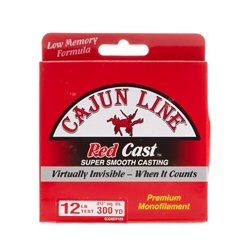 Cajun Line Red Cast 12 lb - 330 yards Monofilament Fishing Line