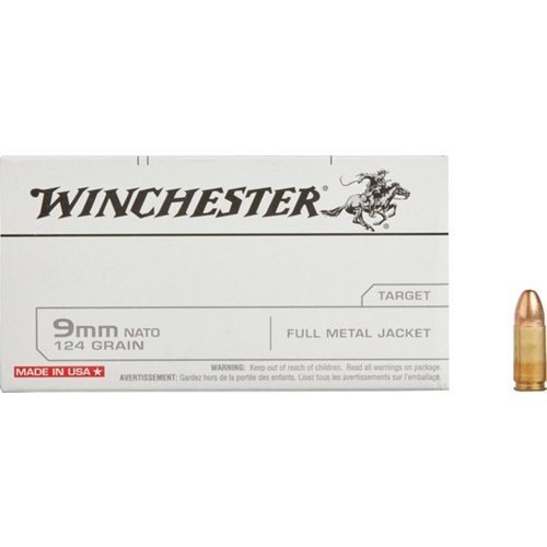 Winchester 9 mm NATO 124-Grain Ammunition