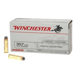 USA JHP .357 Magnum 110-Grain Handgun Ammunition