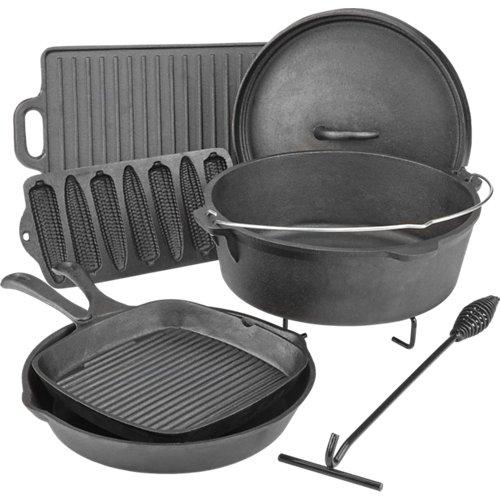 Outdoor Gourmet Cast-Iron Cookware Set in a Box