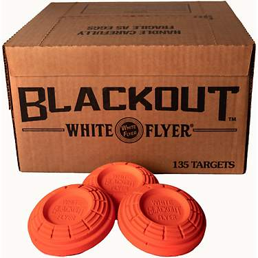 White Flyer BLACKOUT® All Orange Targets, 108mm, 135ct