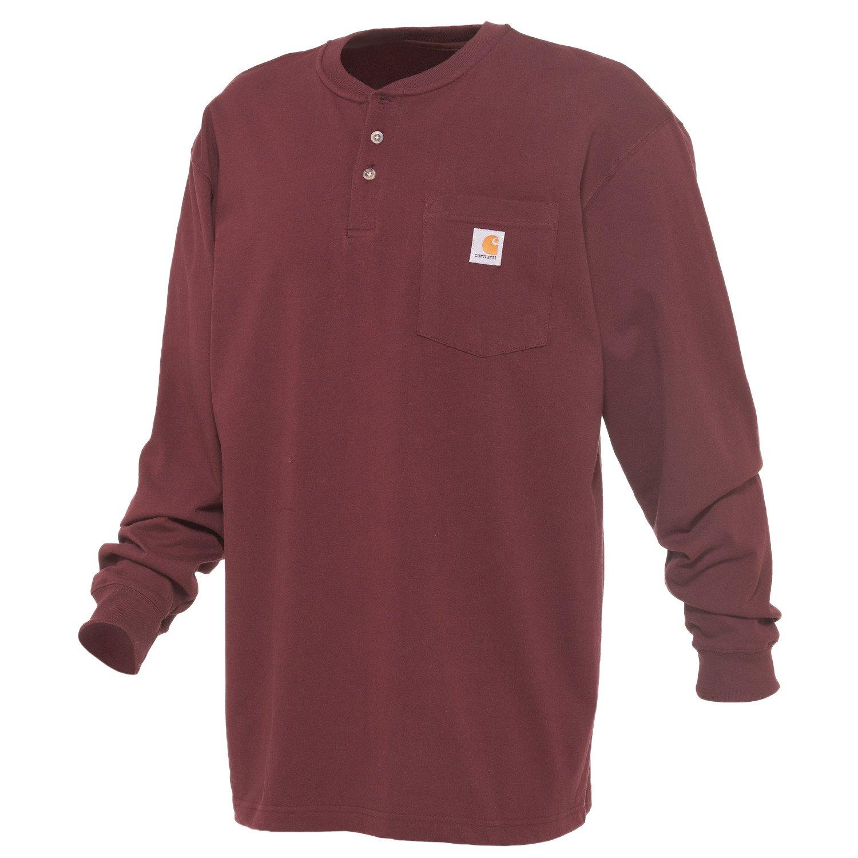 1e9a1896b0439c Carhartt Men's Long Sleeve Workwear Henley   Academy