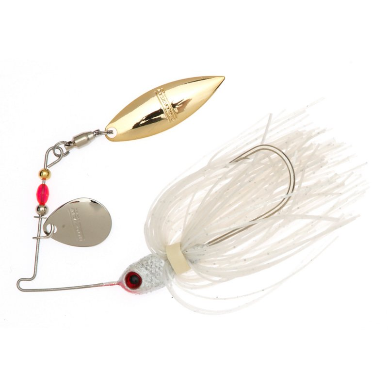 BOOYAH Pond Magic 3/16 oz Tandem Blade Spinnerbait Gray – Fresh Water Wire Baits at Academy Sports