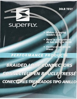 Superfly White Braided Loop Connectors 2-Pack