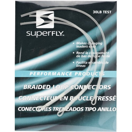 Superfly White Braided Loop Connectors 2-Pack