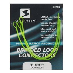Superfly Chartreuse Braided Loop Connectors 2-Pack