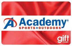 Academy Holiday Gift Card -Red Satin Design