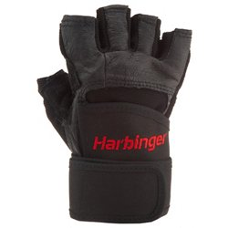 Harbinger Pro WristWrap® Weightlifting Gloves