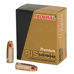 Federal Premium® Personal Defense® Hydra-Shok® JHP 9mm Luger 124-Grain Handgun Ammunition