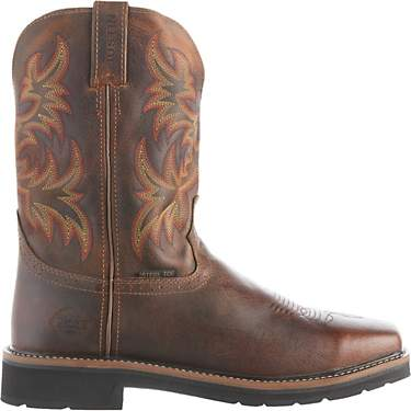 bcf0aed4d0a Mens Justin EE Width Work Boots | Academy