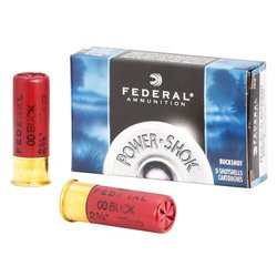 Federal Premium® Power Shok Buckshot 12 Gauge Shotshells